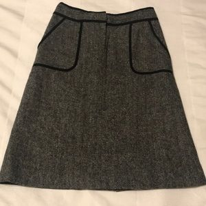 Gray Tweed Skirt